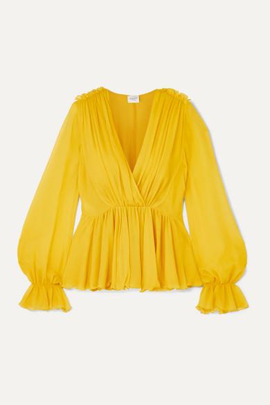 Giambattista Valli Tops Ruffled silk-georgette blouse