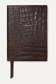 Soho 2020 croc-effect leather diary