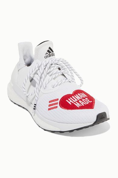 + Pharrell Williams + HUMAN MADE Solar Hu appliquéd mesh and neoprene sneakers
