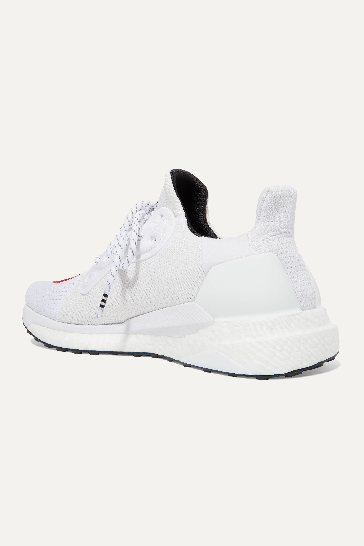 adidas Originals + Pharrell Williams + HUMAN MADE Solar Hu appliquéd mesh and neoprene sneakers
