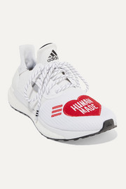 + Pharrell Williams + HUMAN MADE Solar Hu appliquéd mesh and neoprene sneakers