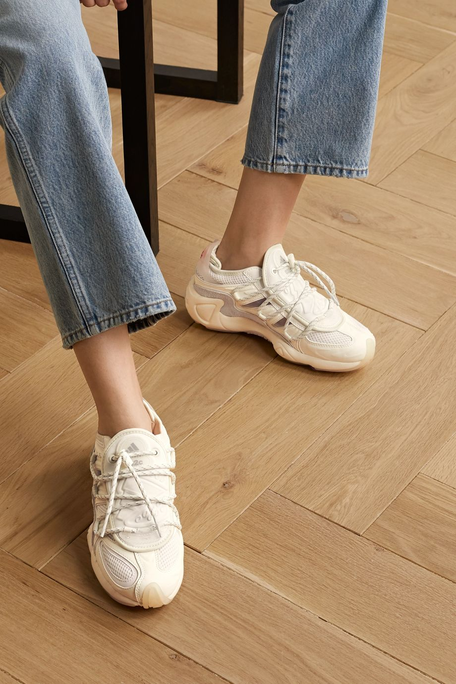 adidas Originals +032C Salvation leather, suede, mesh and neoprene sneakers