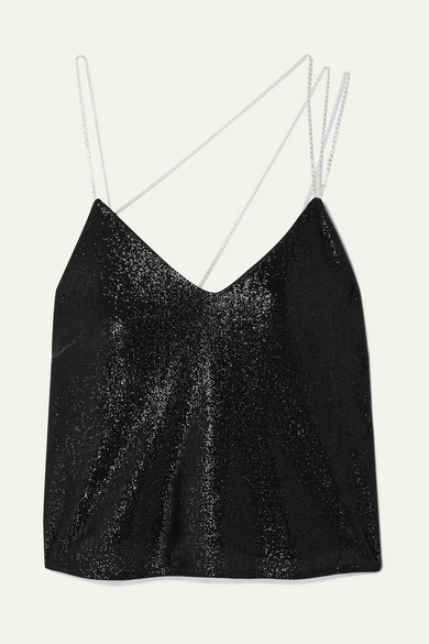 Crystal Embellished Lurex Camisole by Michelle Mason