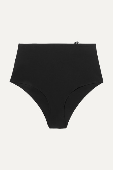 LIVY   LIVY - Bengal Embroidered Tulle And Stretch-Jersey Briefs - Black   Goxip