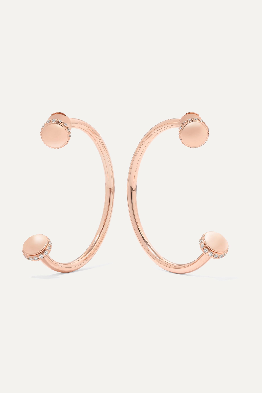 Piaget Possession 18-karat rose gold diamond earrings