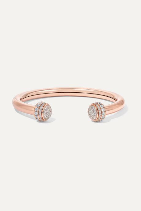 Rose gold Possession 18-karat rose gold diamond cuff | Piaget zWhvWJ