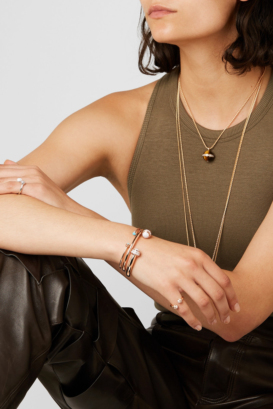 Piaget Bracelet en or rose 18 carats et diamants Possession