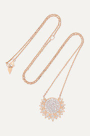 Sunlight 18-karat rose gold diamond necklace