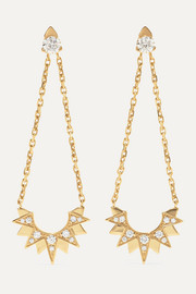 Sunlight 18-karat rose gold diamond earrings