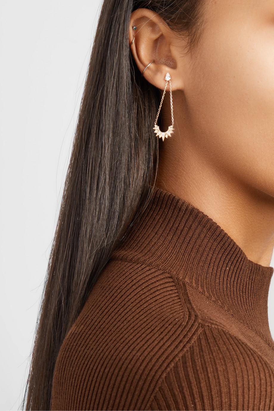 Piaget Sunlight 18-karat rose gold diamond earrings