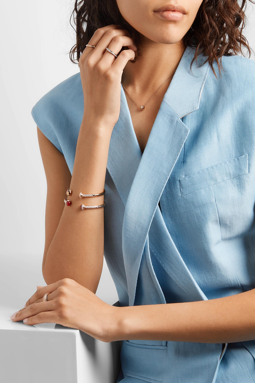Piaget Bracelet en or rose 18 carats, diamants et cornalines