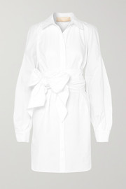 Antonio Berardi Tie-front cotton-poplin dress