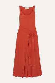 Antonio Berardi Asymmetric draped crepe wrap dress