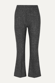 Antonio Berardi Cropped wool-tweed flared pants