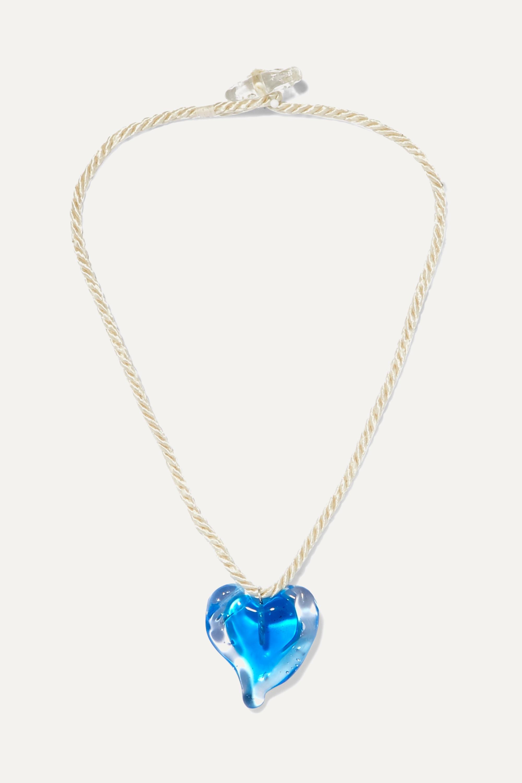Maryam Nassir Zadeh Heart Kette aus Glas und Kordeln