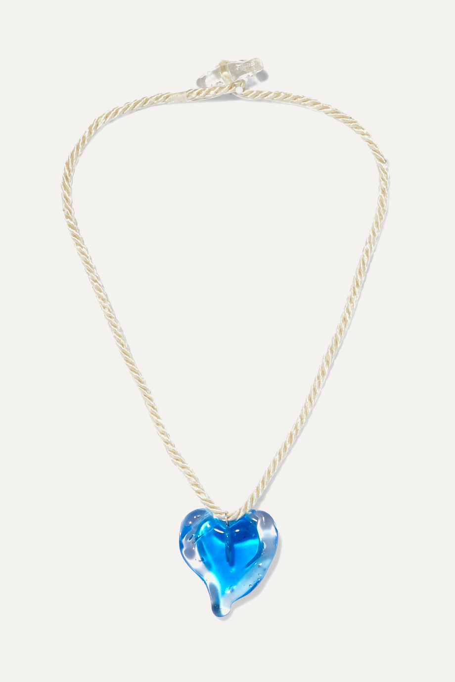 Maryam Nassir Zadeh Heart glass and cord necklace