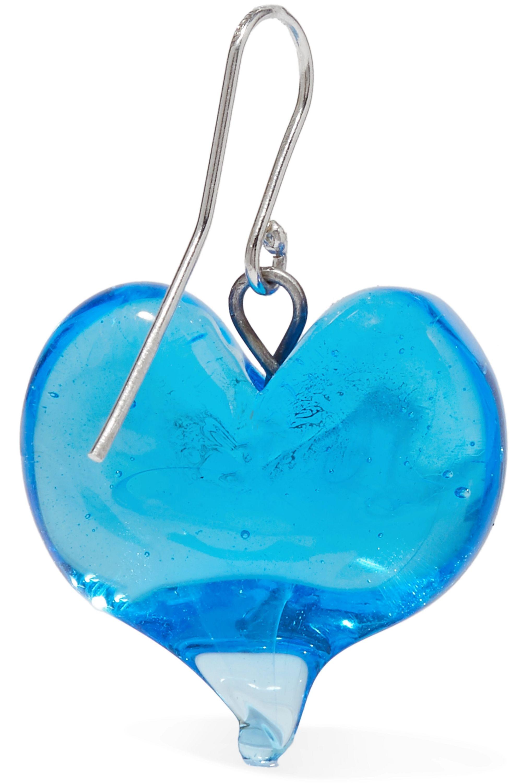 Maryam Nassir Zadeh Heart silver-tone glass earrings