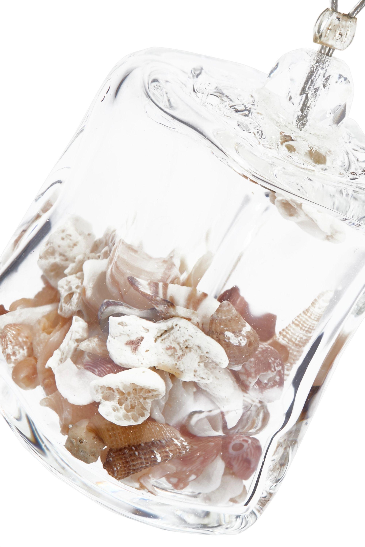 Maryam Nassir Zadeh Cube Kette aus Kordel und Glas mit Muscheln