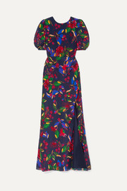 Saloni Annie floral-print silk-satin maxi dress