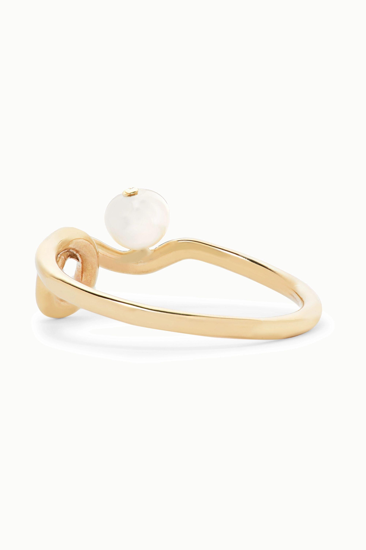 Meadowlark Clio gold pearl ring