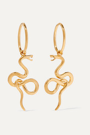 Meadowlark Medusa gold-plated earrings