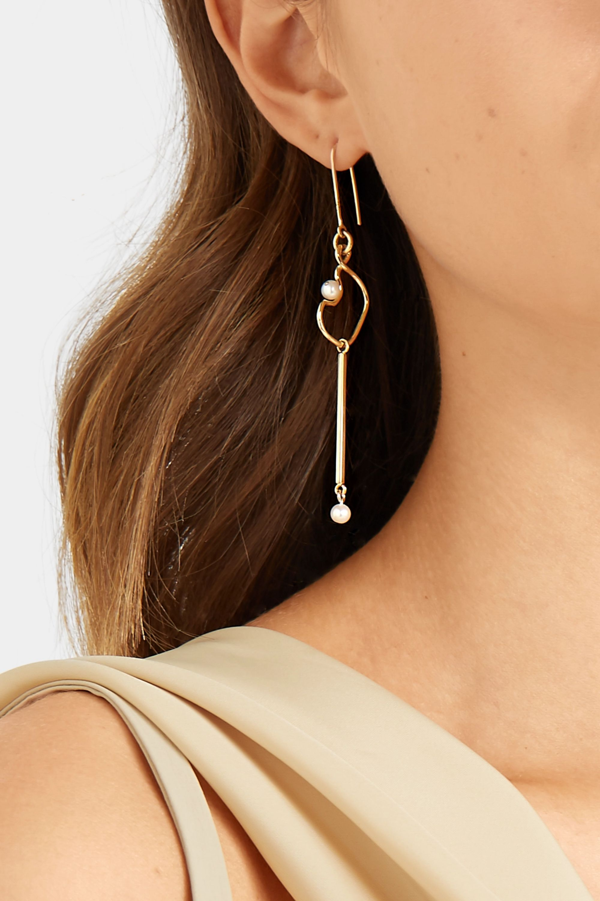Meadowlark Clio 9-karat gold pearl earrings