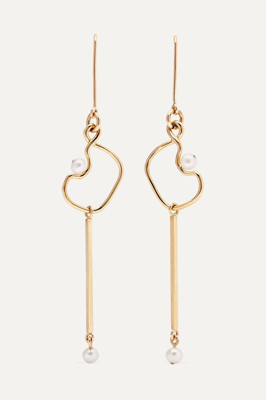 Meadowlark Clio 9-karat gold pearl earrings