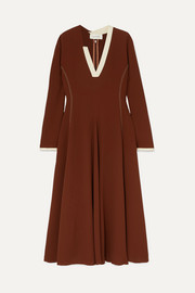 Wales Bonner Crepe midi dress