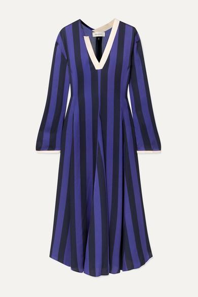 Wales Bonner Dresses Striped crepe midi dress