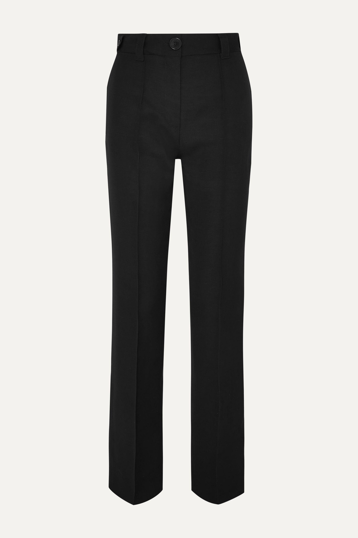 Wales Bonner Pintucked woven straight-leg pants