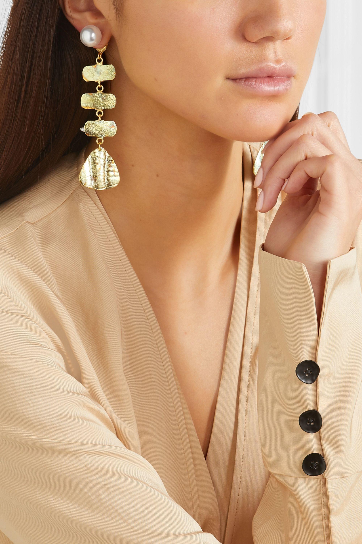 Peet Dullaert Aroda gold-plated pearl earrings