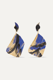 + Joshua Osborn Ciel gold-plated and enamel earrings