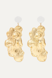 Sirene gold-plated faux pearl earrings