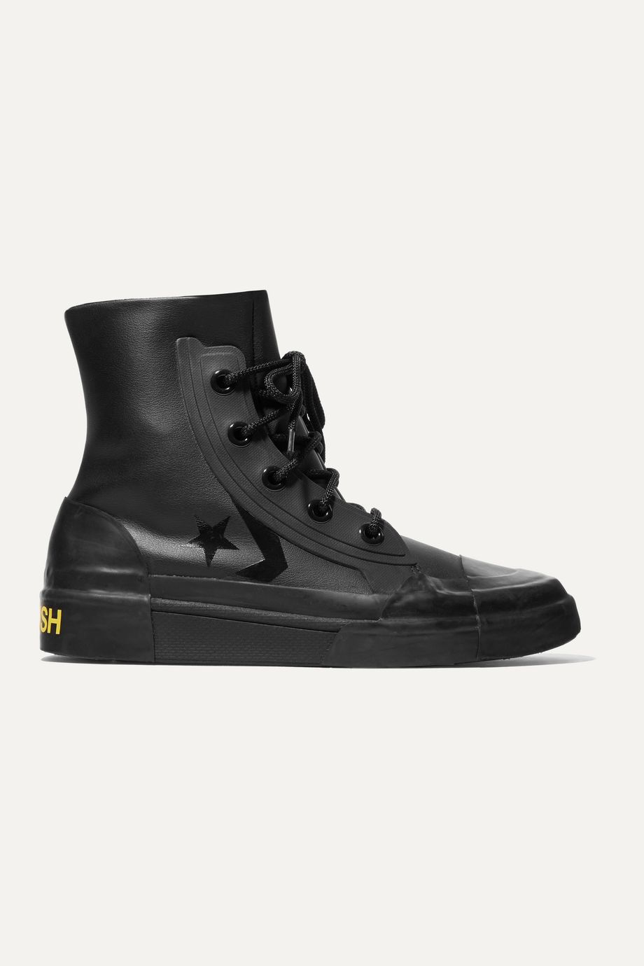 Converse + AMBUSH rubber-trimmed faux leather high-top sneakers