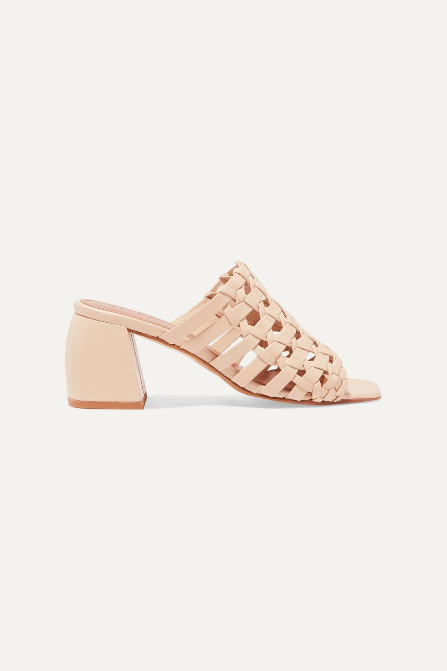 Souliers Martinez Barcelona woven leather mules