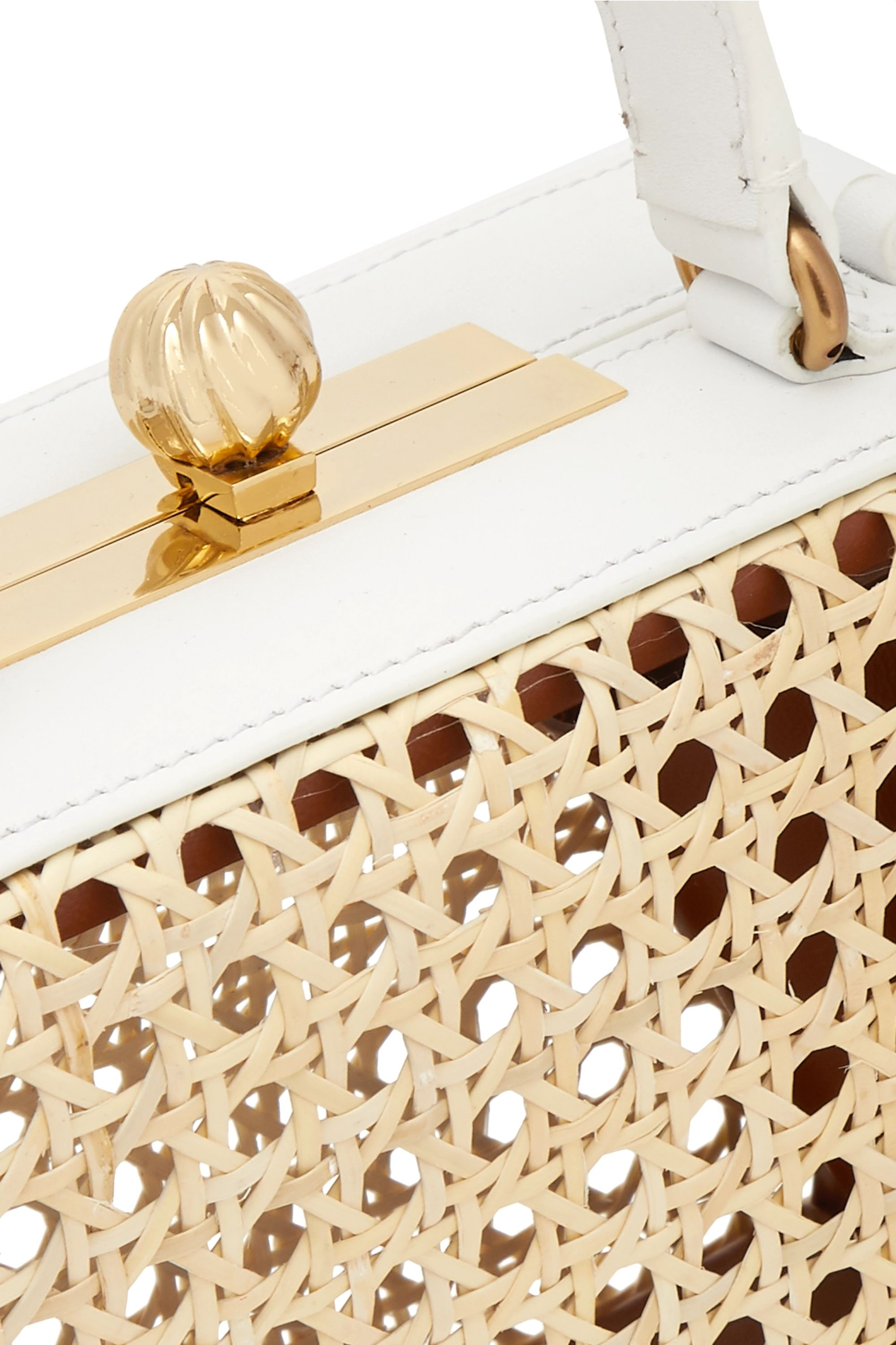 Mehry Mu Luna leather and rattan tote