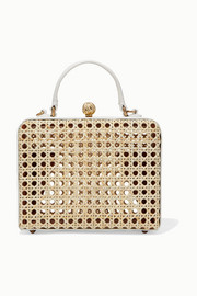 Luna leather and rattan tote