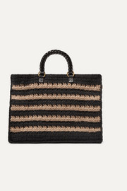 Lucia striped knitted tote