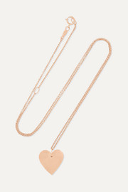 Catbird Full Heart 14-karat rose gold necklace