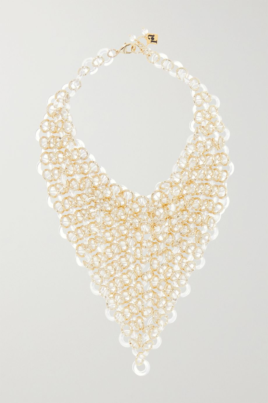 Rosantica Sound gold-tone and resin necklace