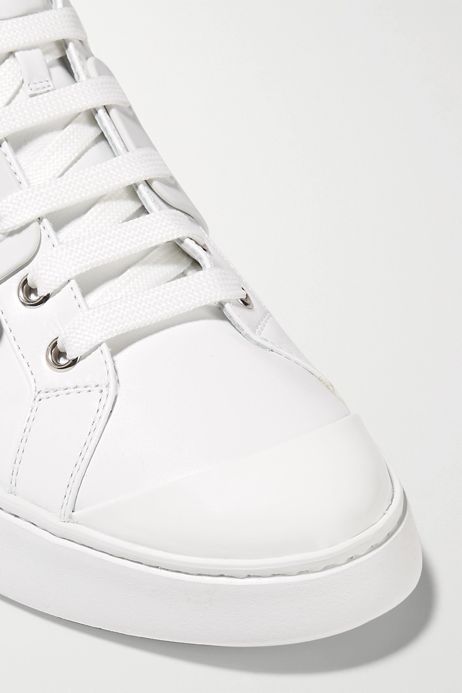 Roger Vivier Skate embellished rubber-trimmed leather sneakers