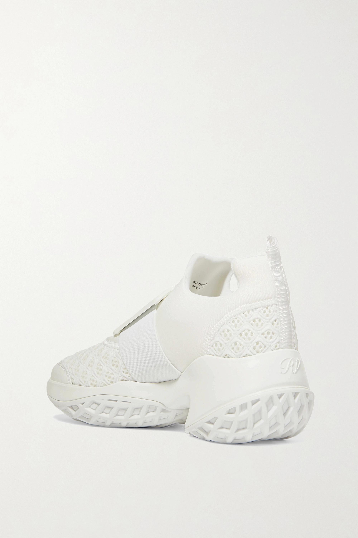 Roger Vivier Viv Run neoprene, mesh and leather sneakers