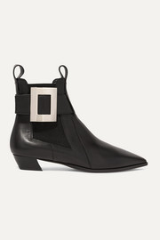 Roger Vivier Dolly embellished leather Chelsea boots