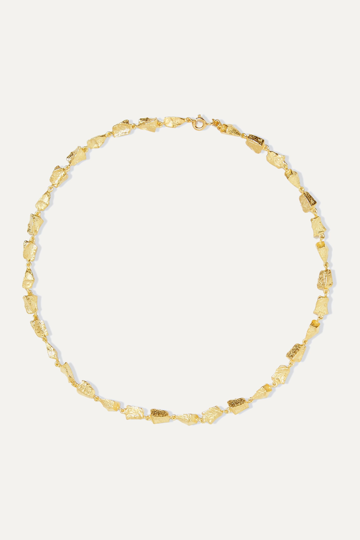 SARAH & SEBASTIAN Remnant gold vermeil necklace