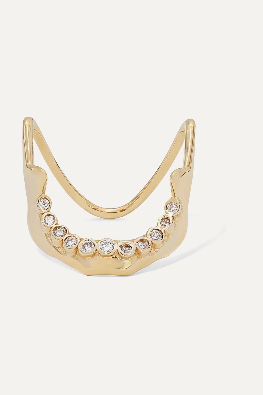 SARAH & SEBASTIAN Mandible 10-karat gold diamond ring