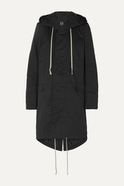 Hooded faille parka