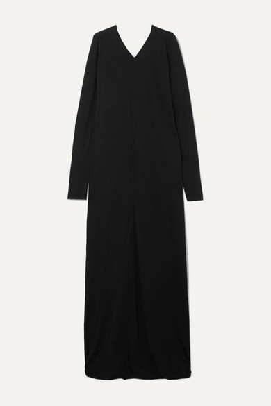 Draped Cotton Jersey Maxi Dress by Rick Owens
