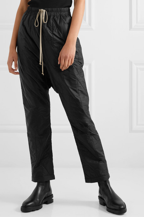 Quilted shell pants