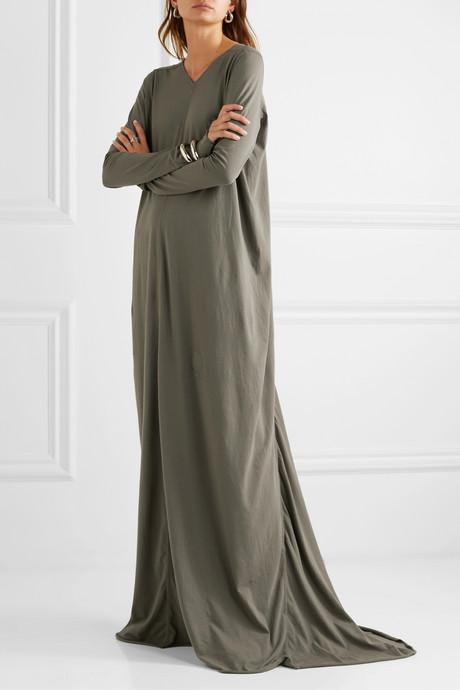 Cotton-jersey maxi dress