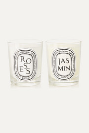 Roses and Jasmin set of two scented candles, 2 x 190g